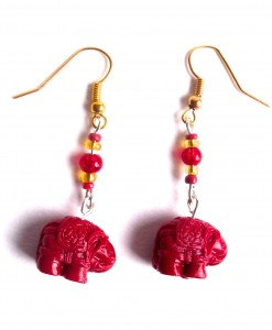 indian elephant earrings
