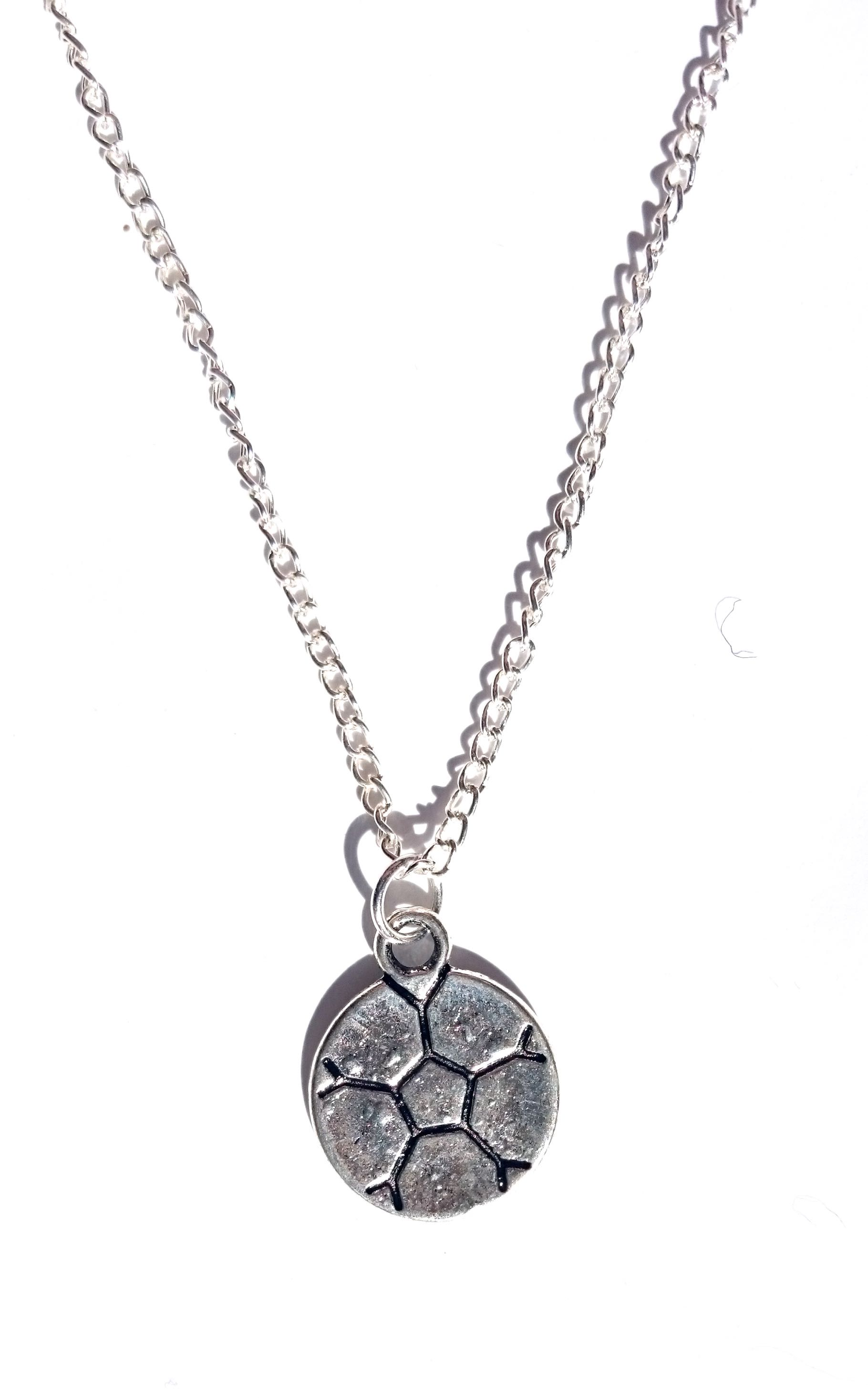 possible are chain included necklace pendant football with god stainless christian all steel medal sport product things