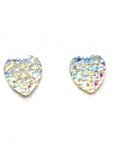 sparkle heart earings
