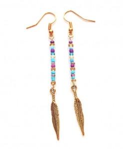 jasmine feather earrings