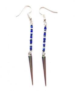 indigo spike earrings