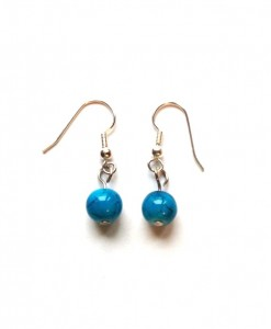 Teal Bead Earrings
