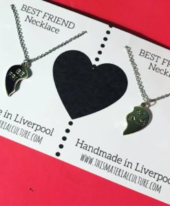 best friend necklaces card
