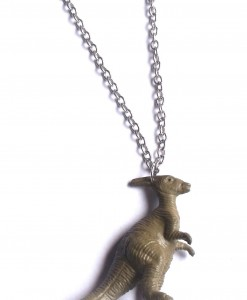 Toy Dinosaur Necklace (Parasaurolophus)