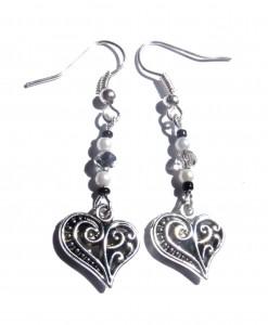 Swirls and Pearls Earrings