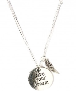 live your dream necklace