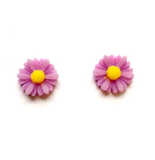 lilac daisy studs