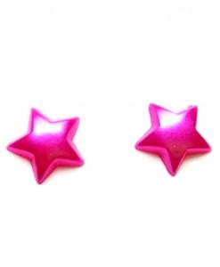 pink star studs