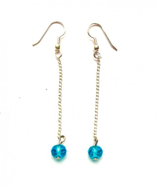 pacific crystal chain earrings