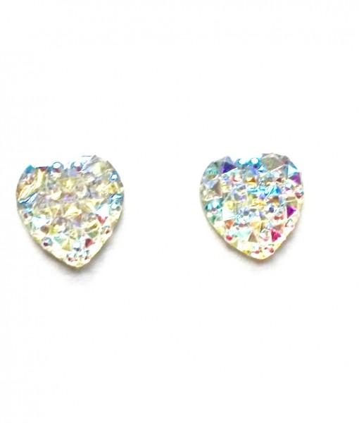 sparkle heart earings