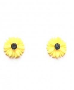 sunflower stud earrings