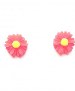 red daisy earrings