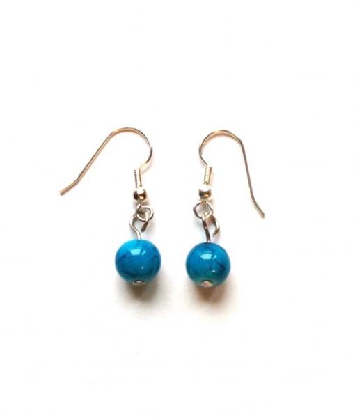 Teal Bead Earrings
