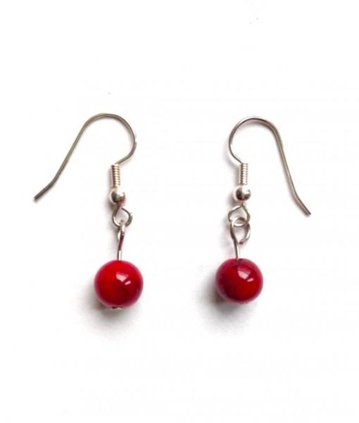 cranberry earrings