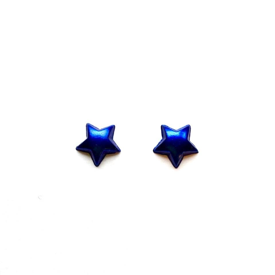 navy star studs