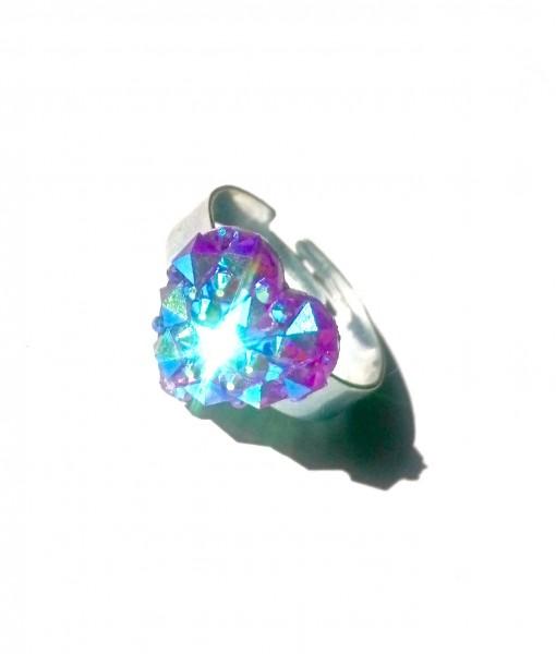 purple heart ring