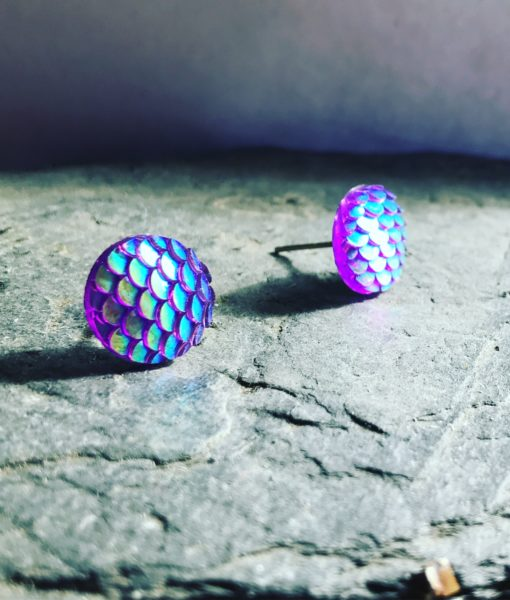 mermaid studs