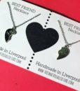 best friend necklaces card