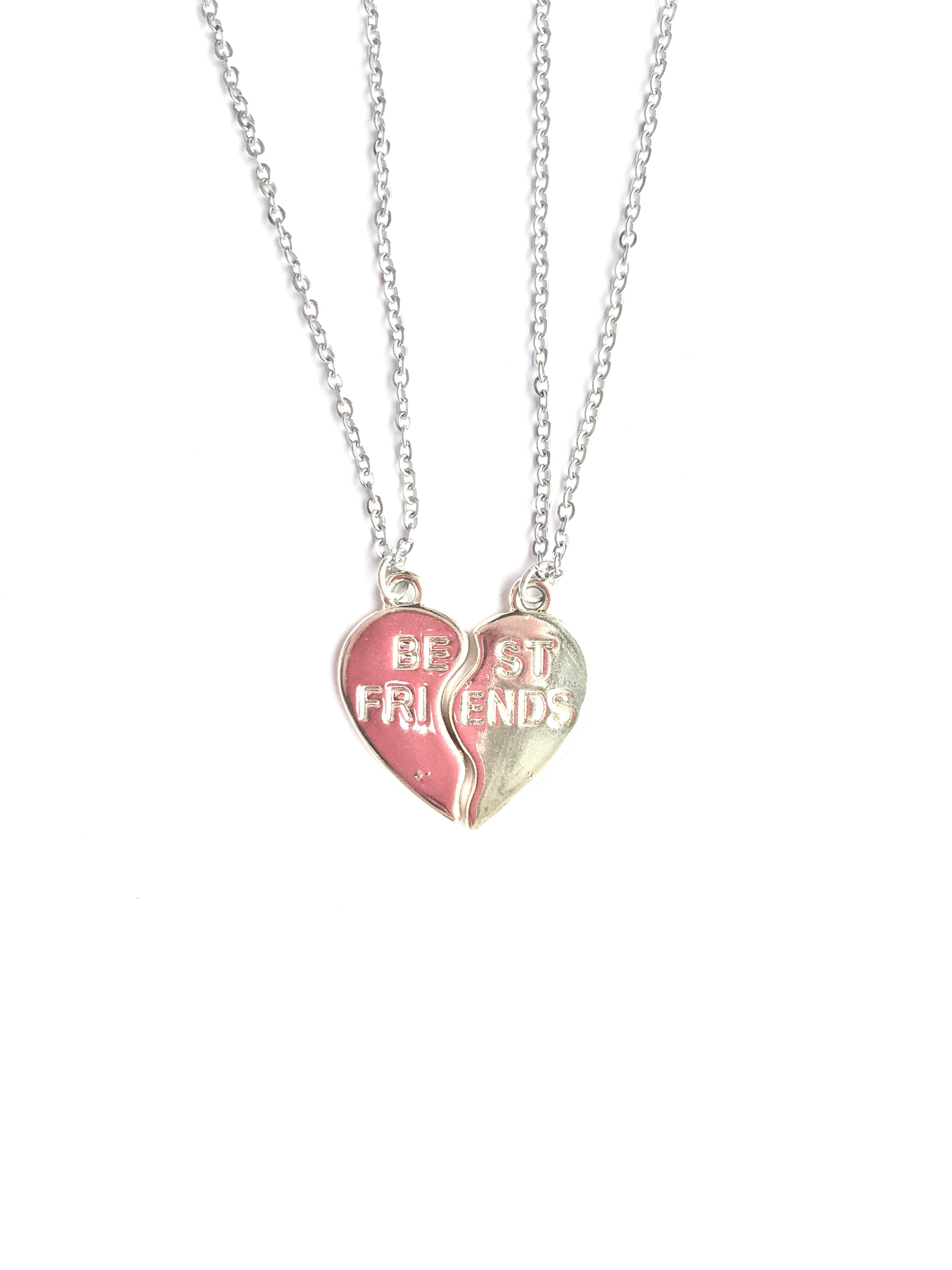 7a9bbc4d87 Best Friend Necklaces - This Material Culture - Heart Best Friend ...